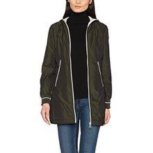 TAIFUN Damen Jacke Outdoorjacke Nicht Wolle, Grün (Dark Khaki-Melange 508260), 46