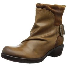 FLY London Mel P141633, Damen Biker Boots, Braun (CAMEL 000), 41 EU (8 UK)