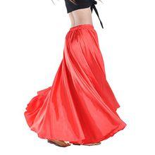 YouPue Damen Tanzkostüm Bauchtanz-Kostüm sexy High-End-Dual Rock Bauchtanz Leistungen große Rock Komfort (nicht enthalten Gürtel) Gürtel Kostüme Bauchtanz Taille Kette Rot