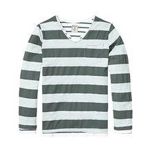 Scotch & Soda Shrunk Jungen 2-in-1 Striped T-Shirt, Mehrfarbig (Combo A 217), 128