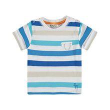 Kanz Baby-Jungen T-Shirt 1/4 Arm, Mehrfarbig (Y/D Stripe 0001), 80