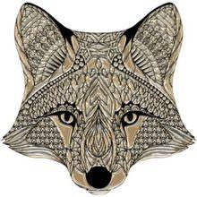 "Wandtattoo ""Fuchs"" 50x50 cm beige"