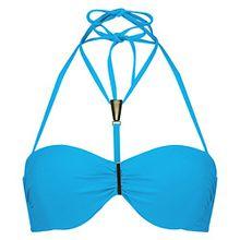 Hunkemöller Damen Vorgeformtes Push-up Bikinitop Smooth Elegance Blau B75122673