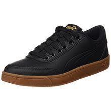Puma Unisex-Erwachsene Court Breaker L Mono Sneaker, Schwarz Black-Metallic Gold, 43 EU