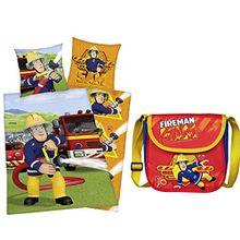 Bettwäsche Feuerwehrmann Sam 80x80cm 135x200 Feuerwehr + Kindergartentasche (61)