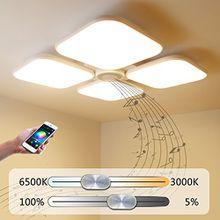 Led Deckenleuchte Deckenlampe Dimmbarmit BluetoothFunktion 72W,Bluetooth Lautsprecher Bluetooth Deckenleuchte FurWohnzimmer,Schlafzimmer,KücheundEsszimmer JDONG #60