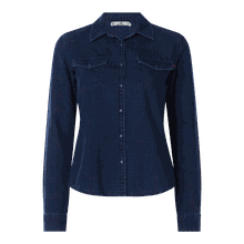 Jeansbluse mit Webmuster Modell 'Lucinda'