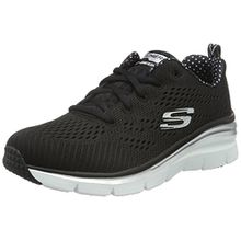 Skechers Damen Fashion Fit Statement Piece Sneaker, Schwarz (BKW), 38 EU