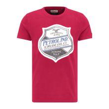 Petrol Industries T-Shirt grau / rot / weiß