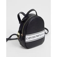 Emporio Armani - Kleiner Rucksack aus PU - Schwarz