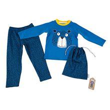 Sigikid Jungen Zweiteiliger Schlafanzug Pyjama, Mini, Blau (Star Sappire 563), 104