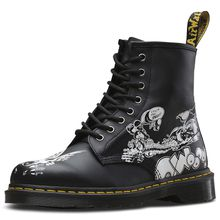 Dr. Martens 8 Eye Boot 1460 RG Backhand Eye schwarz/weiß