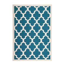 Kayoom_Wohnzimmer Teppiche_mit attraktiven Farben und Muster_Manolya 2097 Türkis 80cm x 150cm, Teppich Größe:120cm x 170cm, Teppich Farbe:Türkis