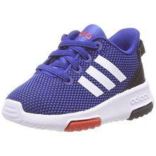 adidas Unisex Baby Racer TR Sneaker, Blau (Hi-Res Blue/Footwear White/Hi-Res Red), 27 EU