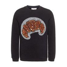 NAME IT Sweatshirt braun / graumeliert / schwarz