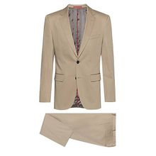 Regular-Fit Anzug aus elastischem Baumwoll-Satin