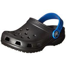 crocs Classic, Unisex-Kinder Clogs, Grau (Graphite/Varsity Blue), 27-29