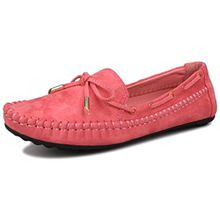 Fangsto Boat Shoes, Damen Mokassins Rot Rot