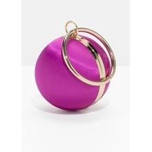 Ball Leather Clutch - Pink
