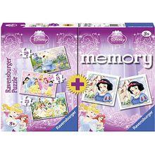 Set Disney Princess mini memory® + 3 Puzzles