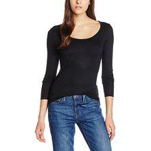 ICHI Damen Langarmshirt N Jane LS, Schwarz (Black 10001), 34 (Herstellergröße: XS)
