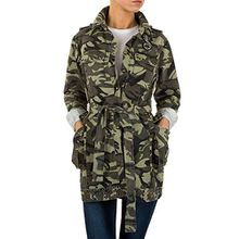 Leichte Camouflage Jacke Für Damen , Grün In Gr. L bei Ital-Design