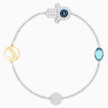 Swarovski Remix Collection Hamsa Hand Strand, blau, Metallmix