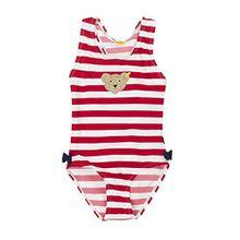 Steiff Collection Mädchen Badebekleidung Badeanzug 6837523, Mehrfarbig (y/d Stripe 0001), 104