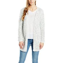 ONLY Damen Loose Fit Strickjacke Onlpop Feather L/s Cardigan Knt Noos, Einfarbig, Gr. 36 (Herstellergröße: S), Mehrfarbig (White/Grey/Light Grey Melange)