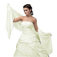 Brautstola Braut Stola Schal aus Chiffon zum Brautkleid