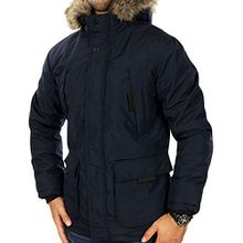 JACK & JONES Herren Parka jcoHOLLOW Winterjacke Mantel Jacket Regular Fit (XL, Blau (Navy Blazer Fit:REG))