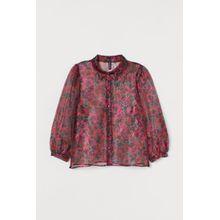 H & M - Bluse aus Organza - Schwarz - Damen