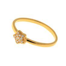 Leaf Stern Ring, Silber, Zirkonia