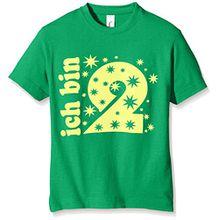 Coole-Fun-T-Shirts Jungen T-Shirt Ich Bin 2 Jahre !, Gr. One Size (Herstellergröße: 92cm/1 Jahr), Grün (Green-Gelb)