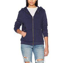 Pepe Jeans Damen Kapuzenjacke Zip Thru Ladies Blau (Navy), Large