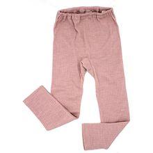 Cosilana Kinder Leggings, Größe 128, Farbe Rosa meliert - Exclusiv Wollbody®GmbH - Qualität 91 45% Baumwolle kbA, 35% Schurwolle kbT, 20% Seide