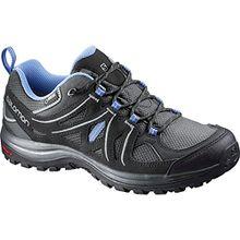 Salomon Damen Ellipse 2 GTX W Trekking-& Wanderhalbschuhe, Grau (Asphalt/Black/Petunia Blue 000), 40 2/3 EU