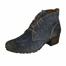 Josef Seibel Tracy 01, Damen Halbschaft Stiefel, Blau (598 Demin), 36 EU