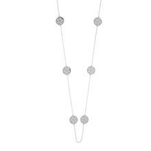 Halskette Disc STAR, lang, Silber