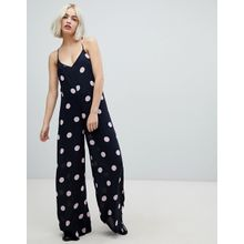 Pepe Jeans - Cora - Gepunkteter Jumpsuit - Navy