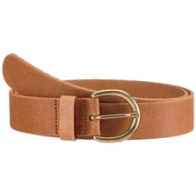 PIECES Damen Gürtel LONDON LEATHER JEANS BELT SUPPLY, Einfarbig, Gr. 90 cm, Braun (COGNAC.)