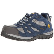 Columbia Jungen Youth Redmond Waterproof Trekking-& Wanderhalbschuhe, Blau (Steam/Super Solarize), 34 EU
