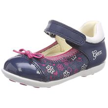 Geox Baby Mädchen B Jodie B Ballerinas, Blau (Avio/Fuchsia), 26 EU