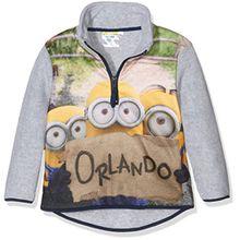 Universal Pictures Jungen Sweatshirt Minions, Grau (L Grey), 6 Jahre