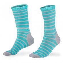 Mons Royale - All Rounder Stripes Crew Sock - Multifunktionssocken Gr S schwarz/rot/rosa