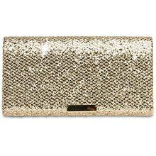 CASPAR TA342 Damen kleine elegante Glitzer Clutch Tasche Abendtasche, Farbe:hellgold;Größe:One Size