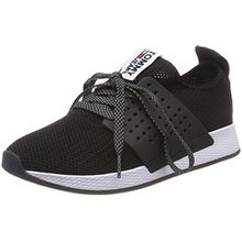 Hilfiger Denim Damen Tommy Jeans Knit Sneaker, Schwarz (Black 990), 39 EU