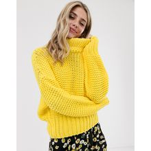 Free People – My Only Sunshine – Grob gestrickter Pullover-Gelb