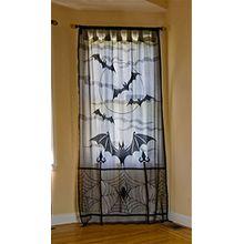 Yesiidor Halloween Deko Spitzen Vorhang Fledermäuse 39.8*83.9inch