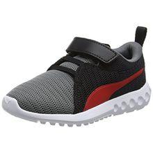 Puma Unisex-Kinder Carson 2 V PS Sneaker, Mehrfarbig (Quiet Shade-Flame Scarlet), 34 EU